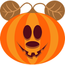 pumpkin, spooky, scary, Mouse, monster, halloween, jack-o-lantern OrangeRed icon