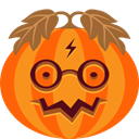 Creepy, spooky, jack-o-lantern, halloween, potter, monster, pumpkin DarkOrange icon