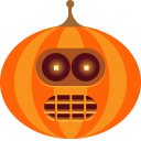 Bender, jack-o-lantern, spooky, monster, halloween, pumpkin, robot OrangeRed icon