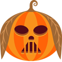 spooky, jack-o-lantern, scary, vader, halloween, monster, pumpkin DarkOrange icon