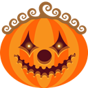 monster, jack-o-lantern, halloween, scary, Clown, spooky, pumpkin DarkOrange icon
