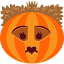 jack-o-lantern, halloween, spooky, monster, pumpkin, Queen, witch DarkOrange icon