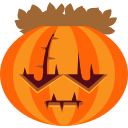 scary, jack-o-lantern, frankenstein, halloween, monster, pumpkin, horror DarkOrange icon