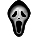 Game, creative, silence, fake, film, Face, night, kill, movie, Dream, horror, head, funny, media, visit, shape, killer, Cry, halloween, scary, Costume, speak, murder, Mask, problem, Fun Black icon
