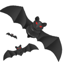 Holiday, problem, warning, Attention, craft, exclamation, Dream, Alert, halloween, horror, Bats, bat, night, Dark, scared, wing, scary, tale, flight, Moon, danger, fly, of, evil, Terror DarkSlateGray icon