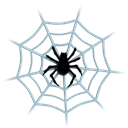 Connection, insects, spider's web, net, danger, clue, Center, false, halloween, Animal, spiderweb, insect, Communication, Grid, web, dangerous, shape, Dead, Social, media, ladybird, spider, cobweb, network, fake Black icon