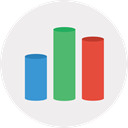 keynote, chart, Analytics WhiteSmoke icon