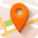 Pointer, location, Destination, Map DarkOrange icon