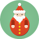 santa, santa claus, christmas DarkSeaGreen icon