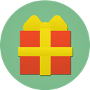 christmas, gift, present DarkSeaGreen icon