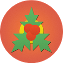mistletoe, christmas IndianRed icon