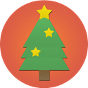 Tree, christmas IndianRed icon