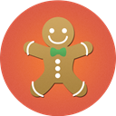 christmas, food, cake, cookies IndianRed icon