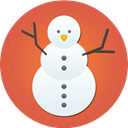 snowman, christmas, Snow IndianRed icon