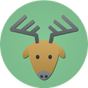 reindeer, christmas, rudolf, deer DarkSeaGreen icon