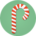 Candy, Cane, christmas DarkSeaGreen icon