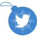 Ball, christmas, twitter SteelBlue icon