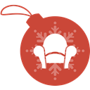 christmas, Readability, Ball IndianRed icon