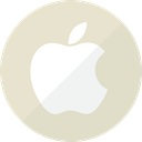 Mobile, technology, champagne, Communication, gold, Golden, Apple Gainsboro icon