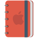 pencil, red, copybook, Apple, Book, Notebook, squarico IndianRed icon
