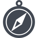 Direction, navigate, Browser, nevigate, compass, location, navigation DarkSlateGray icon