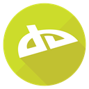Social, Art, portfolio, share, deviant, Deviantart, Design YellowGreen icon