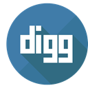 digg it, Digg, Colored SteelBlue icon