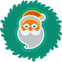 xmas, christmas, wreath, santa Teal icon