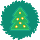 wreath, christmas, Tree, xmas Teal icon