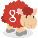 Gplus, Sheep, social network, google plus Firebrick icon