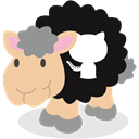 Sheep, social network, Github Black icon