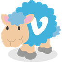 Sheep, Vimeo, social network MediumTurquoise icon