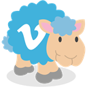 Vimeo, social network, Sheep MediumTurquoise icon