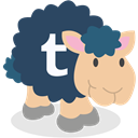 Tumblr, social network, Sheep DarkSlateGray icon
