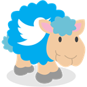 twitter, Sheep, social network DeepSkyBlue icon