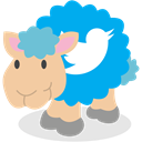 Sheep, twitter, social network DeepSkyBlue icon