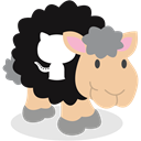 social network, Github, Sheep Black icon
