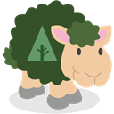 social network, Forrst, Sheep DarkSlateGray icon