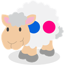 flickr, Sheep, social network WhiteSmoke icon