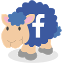 Facebook, Sheep, social network DarkSlateBlue icon