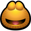 happy, monsters, monster, Dreaming, Emoticon, smiley, Avatar Goldenrod icon