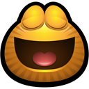 yellow, monster, monsters, laughing, glad, Brown, Avatar Black icon