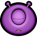 Buddy, Avatar, monster, monsters, Alien, Cyclops, Emoticon, Creature MediumOrchid icon