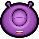 Alien, Avatar, monsters, monster, Emoticon, Cyclops MediumOrchid icon