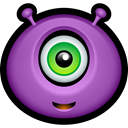 monsters, Alien, Avatar, smile, Emoticon, monster MediumOrchid icon