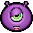 Avatar, Alien, Emoticon, monsters, monster, smile MediumOrchid icon