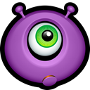 Avatar, Emoticon, Alien, monsters, monster, Cyclops MediumOrchid icon