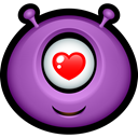 smiley, Avatar, Emoticon, Cyclops, monster, Alien, Face, monsters MediumOrchid icon