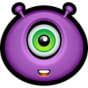 monster, halloween, Avatar, monsters, Alien, Cyclops MediumOrchid icon