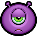 Alien, monsters, monster, sad, Avatar, Cyclops, Emoticon MediumOrchid icon